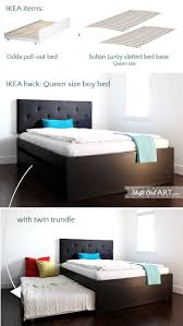 Queen size bed with twin trundle - IKEA Hackers