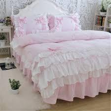 ruffle duvet cover full new luxury layers bedding set sweet princess bow ruffle duvet cover wedding ruffle duvet cover full