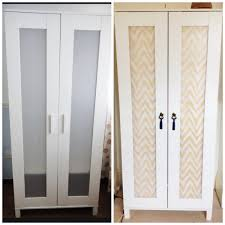 Budget Ikea hack complete - Aneboda wardrobe. Fabric from  www.fabrictraders.com.