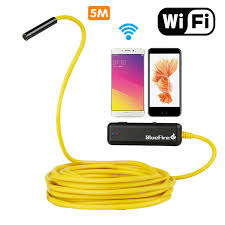 android endoscope 8mm lens 10m cable for iphone camera ios with 6 led mini wifi endoscopy hd 720p cam