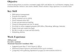 Objective For Housekeeping Resume Complete Sample Of Skills And