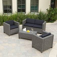 Amazon Puerta All Weather Wicker Conversation Set Seats 4