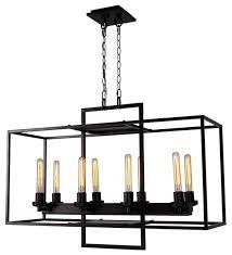 borkowski 8 light linear chandelier oil rustic bronze