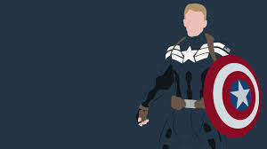 Minimalist Captain Marvel Desktop Wallpaper
