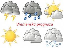 Резултат слика за vremenska prognoza