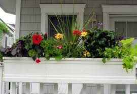 Planters, Porch Flower Boxes Extra Large Planters Red Yellow Green Home:  marvellous porch flower