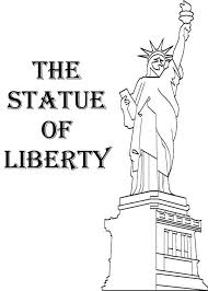 Small Picture American Statue of Liberty Coloring Page Download Print Online