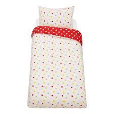 little home star duvet cover and pillowcase set