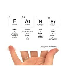 Periodic Table Of Elements Fathers Day Print