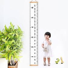 Baby Height Wall Chart Kbnian Baby Height Growth Chart Hanging Canvas Ruler Wood