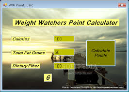 Weight Watchers Points Calculator Chart Download Weight Watchers Points Calculator 1 0