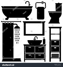 bathroom icon color silhouette stock image and royalty
