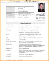 Tabellarischer Lebenslauf Studium Resignation Format