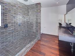 Stunning Contemporary House Designs Elegant Bathroom Glass Tile