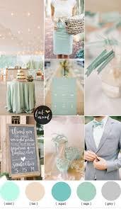 Mint and tan wedding colour palette