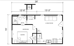 small floor plans. One Bedroom Guest House Plans Ideas Small Floor Plan Impressive