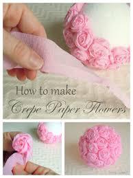 Crepe Paper Flower Balls Crepe Paper Flowers Craft Idea