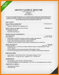 Artistic Resume Templates Artist Resume Sample Jpg World Wide Herald