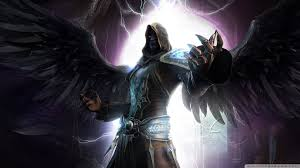 dark angel force wings dark fantasy magician angel night shadow last chaos wallpaper and background