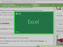inventory software in excel how to create an inventory list in excel with pictures wikihow