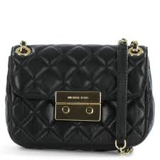 Michael Kors Sloan Small Black Leather Quilted Chain Shoulder Bag & Sloan Small Black Leather Quilted Chain Shoulder Bag Adamdwight.com