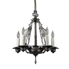 spanish revival chandelier with shields antique lighting