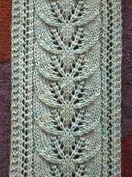 Free Knitting Patterns For Scarves Inspiration Brooke's Column Of Leaves Knitted Scarf Pattern