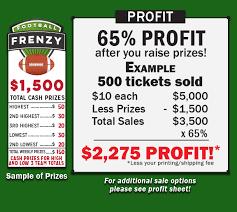 Football Frenzy Fundraiser Fundraising Game Profitable