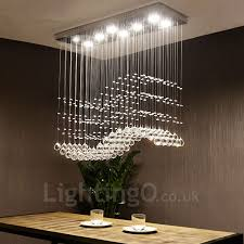 dimmable modern led crystal ceiling pendant light indoor chandeliers home hanging down lighting lamps fixtures with