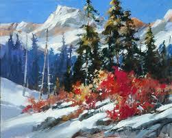 b heighton early snow original acrylic on canvas painting