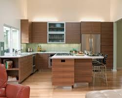 shaped kitchen neutral warm