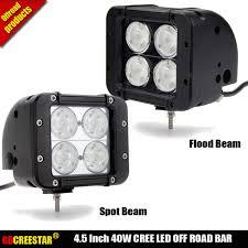 4 Led Light Bar Us 64 9 Gdcreestar 4 5 Inch 40w 4led Chips Light Bar For Off Road Light Bar Spot Flood Beam Led Driving Light Led Bar X1pc Free Shipping In Light