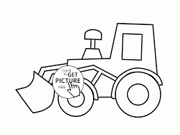 Small Picture Simple Excavator coloring page for kids transportation coloring