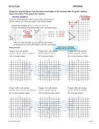 Translation Rotation Reflection Worksheet Worksheets for all ...
