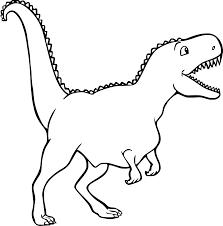 Semplice Dinosauro Disegno Da Colorare Disegni Da Colorare E