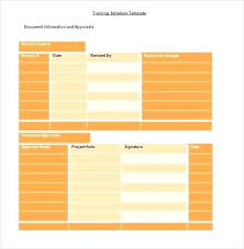 Training Plan Template Page Word Excel Forms Agenda Literals