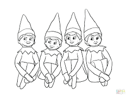 elf printable coloring pages elf colouring book printable coloring coloring elf on the shelf coloring pages