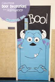 classroom door decorations for halloween. Monsters, Inc. Halloween Door Decorations {OneCreativeMommy.com} Instructions And Printables For Classroom O