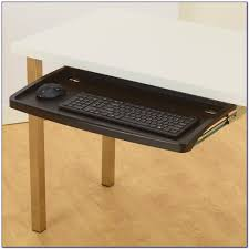 under desk keyboard tray for glass desk desk home design ideas throughout proportions 1024 x 1024