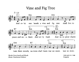 color my world sheet music vine and fig tree song music room stuff pinterest fig tree