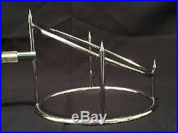 Ham Stands For Carving And Display VINTAGE Lucite Handle Roast Meat Ham Holder Carving Rack Stand 73