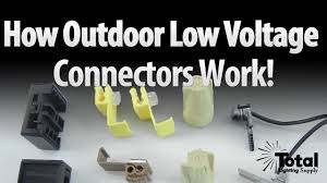12 Volt Light Connectors How Outdoor Landscape Lighting Low Voltage Connectors Work By Total Outdoor Lighting