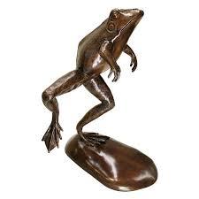 frog garden statue large meditating