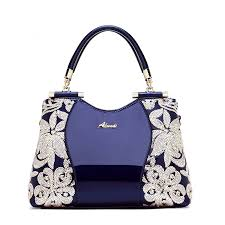 2018 new women patent leather handbags sequin embroidery luxury shoulder cross bag famous brand designer women messenger bag