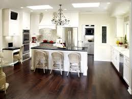 beautiful ideas for modern kitchen with white kitchen island and luxury black chandelier ideas large