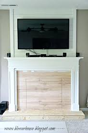add wood burning fireplace to existing home how build a faux and mantel painting the house add wood burning fireplace to existing home