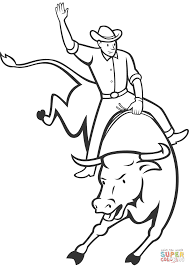 Small Picture Rodeo Bull Riding coloring page Free Printable Coloring Pages