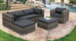 Nailing Next Outdoor Furniture Design With Cement Patio Deck And L Outdoor Patio Furniture Sectionals