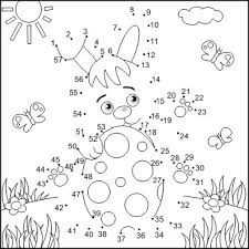 Connect The Dots And Coloring Page With Easter Bunny Commercial