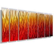 inferno 68 x24 large modern abstract metal wall art sculpture flame red orange on large metal wall art red with inferno 68 x24 large modern abstract metal wall art sculpture blue